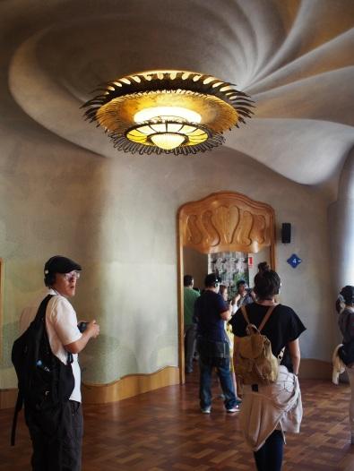 เพดานที่ทำเหมือนก้นหอย Casa Batlló