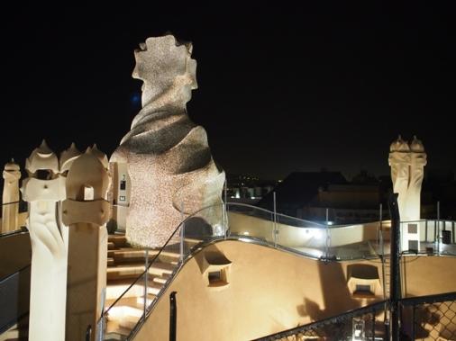 ดาดฟ้า Casa Milà บาร์เซโลน่า