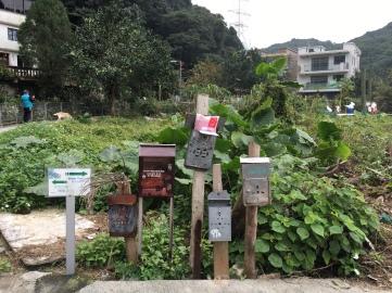 ตู้จดหมายของบ้านหมู่บ้านอันห่างไกลในฮ่องกง มารวมๆ ปักๆ ไว้ในที่เดียว คุณบุรุษปณ.จะได้ไม่ต้องเดินไกล