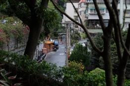 มองจากด้านหน้าโรงแรม / The Gaia hotel, Beitou, Taipei