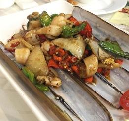 หอยไม้ไผ่ผัดฉ่า