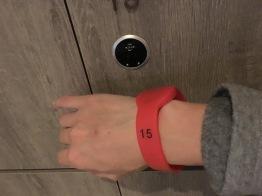 กุญแจระบบสัมผัส ที่ใช้ในห้องแช่น้ำรวม / The Gaia hotel, Beitou, Taipei