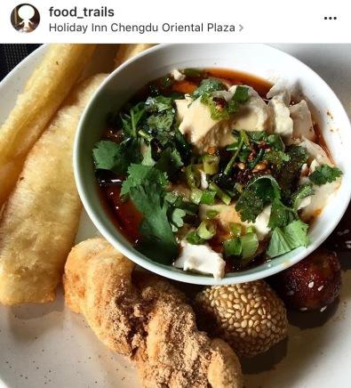 อาหารเช้าที่ holiday inn chengdu