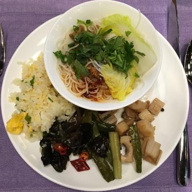 อาหารเช้าที่ six senses qing cheng mountain